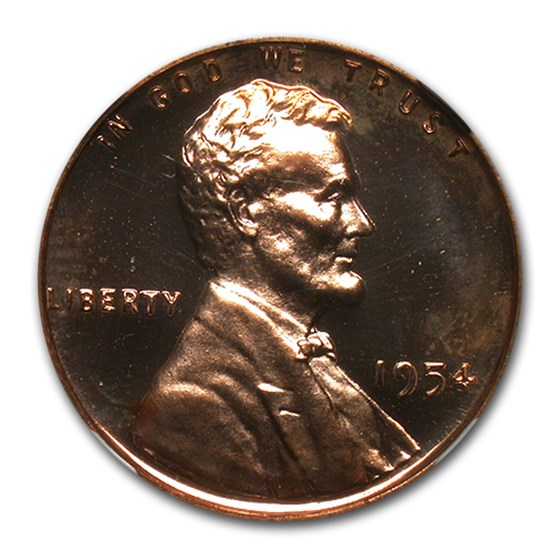 1954 Lincoln Cent PF-65 UCAM NGC (Red)