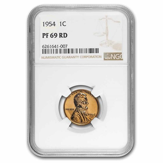 1954 Lincoln Cent PF-69 NGC (Red)