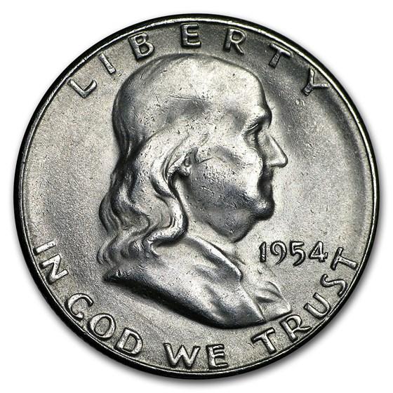 1954-S Franklin Half Dollar AU