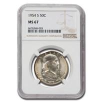 1954-S Franklin Half Dollar MS-67 NGC