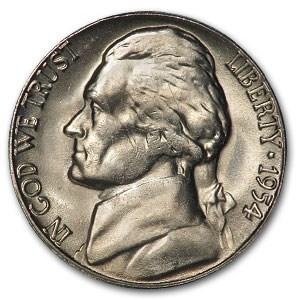 1954-S Jefferson Nickel BU