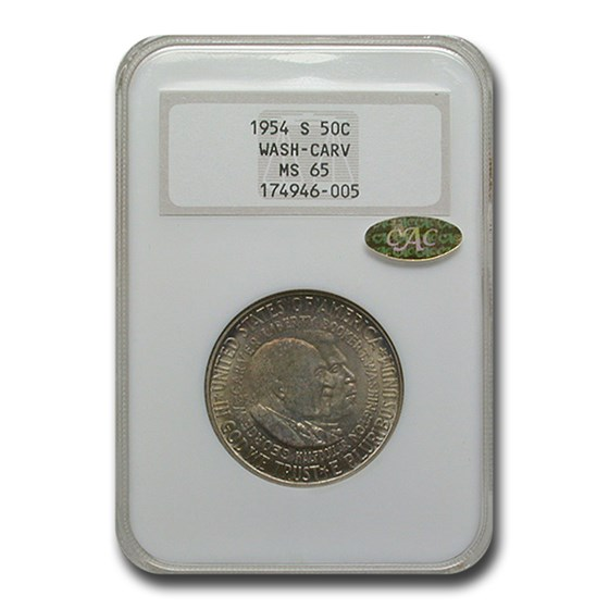 1954-S Washington Carter Commemorative Half Dollar MS-65 NGC CAC