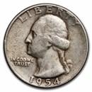 1954-S Washington Quarter VG/XF