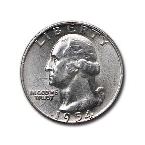1954 Washington Quarter AU