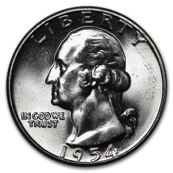 1954 Washington Quarter BU