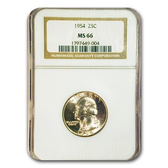 1954 Washington Quarter MS-66 NGC