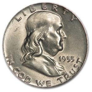 1955 Franklin Half Dollar AU