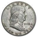 1955 Franklin Half Dollar Fine/XF