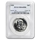 1955 Franklin Half Dollar MS-64 PCGS (FBL)