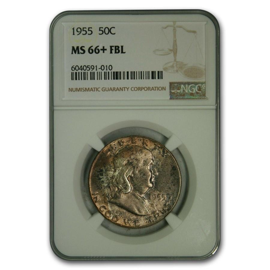 1955 Franklin Half Dollar MS-66+ NGC (FBL)