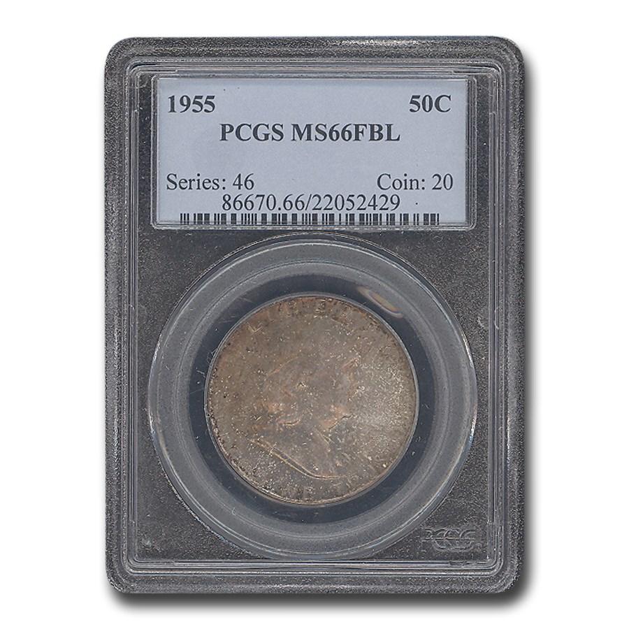 1955 Franklin Half Dollar MS-66 PCGS (FBL)