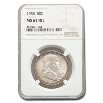 1955 Franklin Half Dollar MS-67 NGC (FBL)