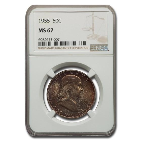 1955 Franklin Half Dollar MS-67 NGC
