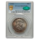 1955 Franklin Half Dollar MS-67 PCGS CAC (FBL)