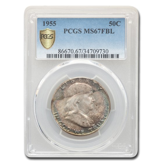 1955 Franklin Half Dollar MS-67 PCGS (FBL)