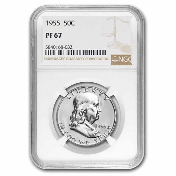 1955 Franklin Half Dollar PF-67 NGC
