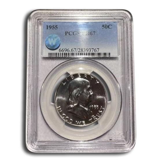 1955 Franklin Half Dollar PR-67 PCGS