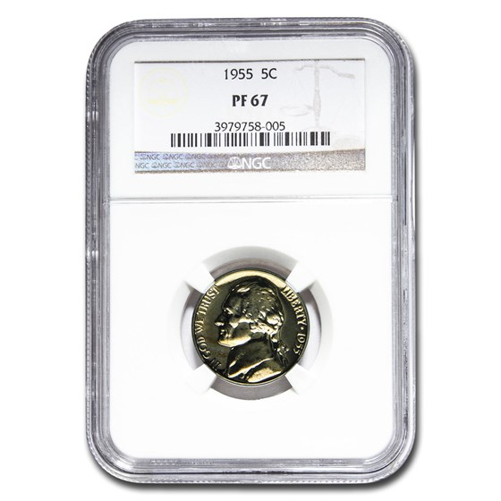 1955 Jefferson Nickel PF-67 NGC