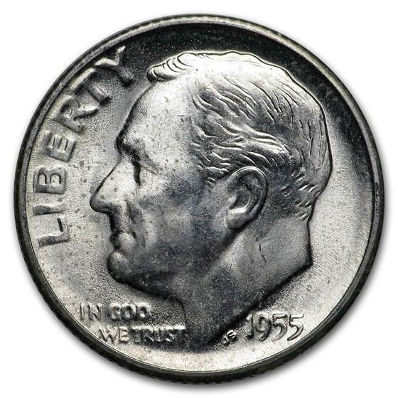 1955-S Roosevelt Dime BU