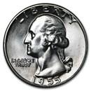 1955 Washington Quarter BU