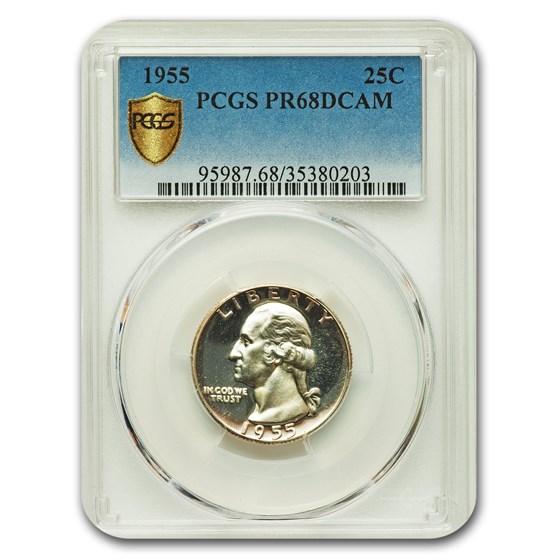 1955 Washington Quarter PR-68 DCAM PCGS