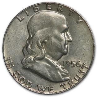 1956 Franklin Half Dollar Fine/XF