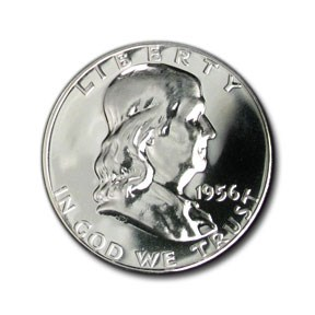 1956 Franklin Half Dollar Gem Proof (Type-I) 4 Feathers