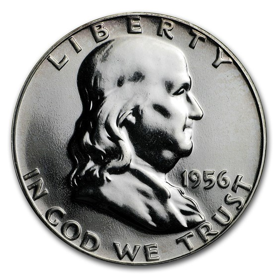 1956 Franklin Half Dollar Gem Proof