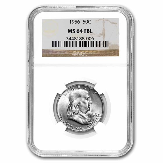 1956 Franklin Half Dollar MS-64 NGC (FBL)