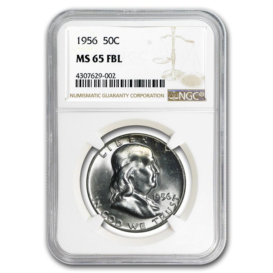 1956 Franklin Half Dollar MS-65 NGC (FBL)