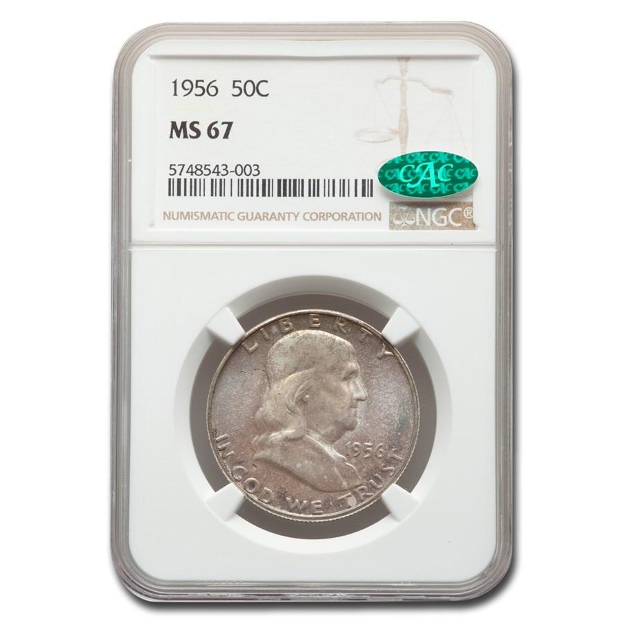 1956 Franklin Half Dollar MS-67 NGC CAC