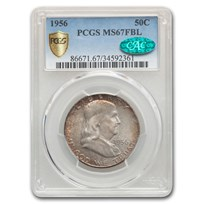 1956 Franklin Half Dollar MS-67 PCGS CAC (FBL)