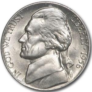 1956 Jefferson Nickel BU