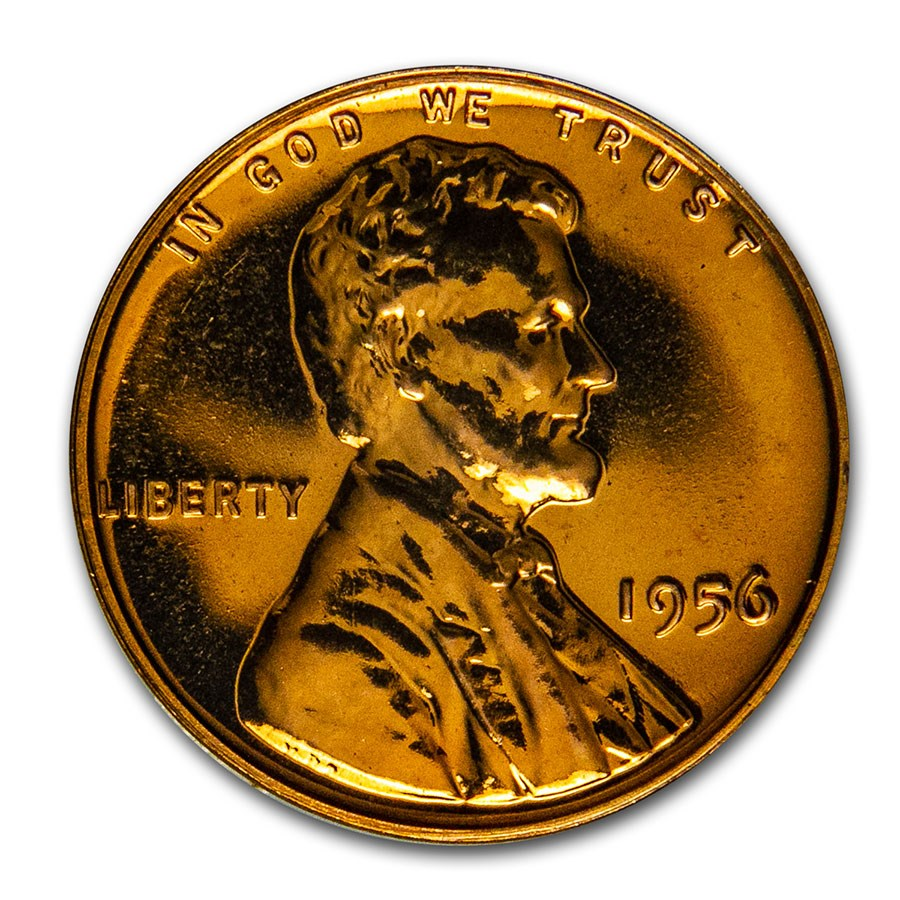 1956 Lincoln Cent Gem Proof (Red)