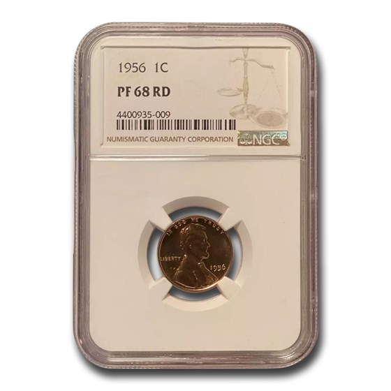 1956 Lincoln Cent PF-68 NGC (Red)