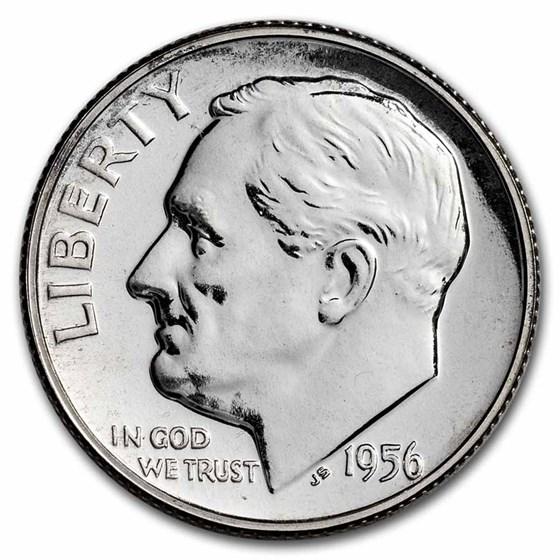 1956 Roosevelt Dime Gem Proof