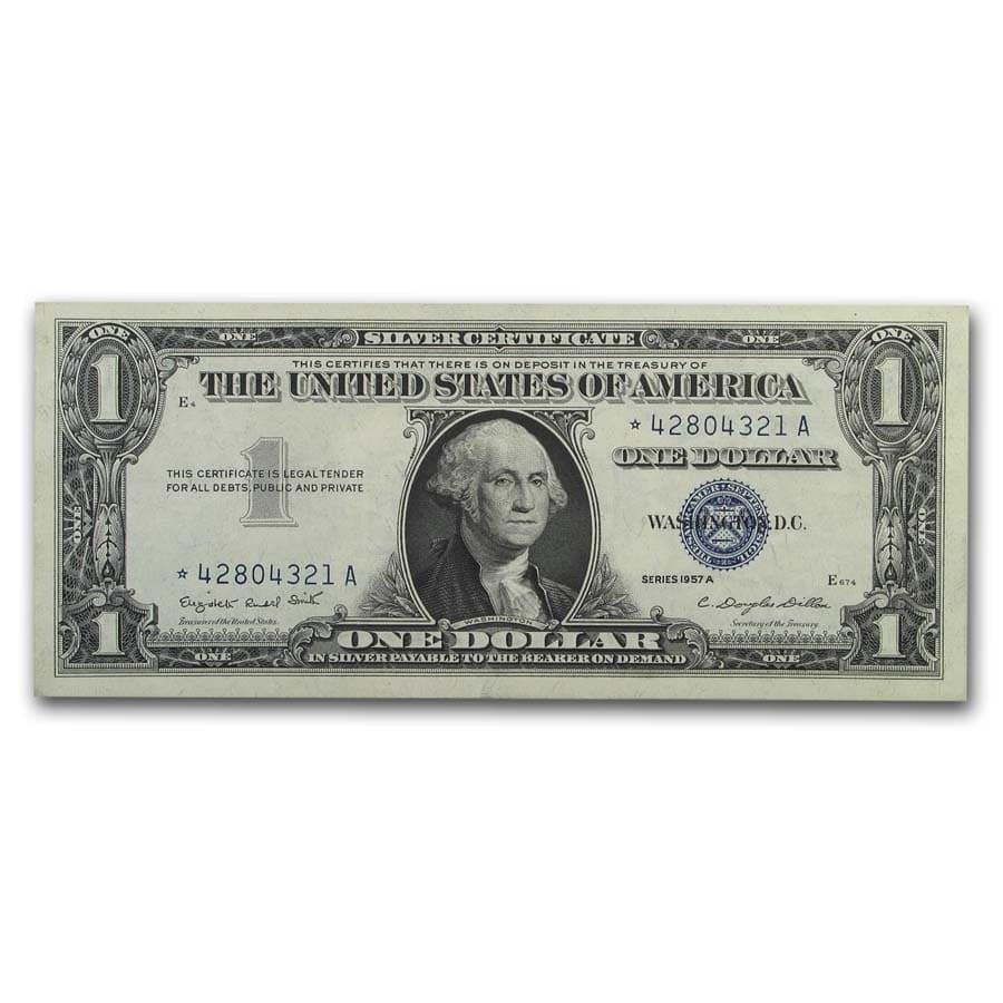 1957* $1.00 Silver Certificate AU (Fr#1619*) Star Note