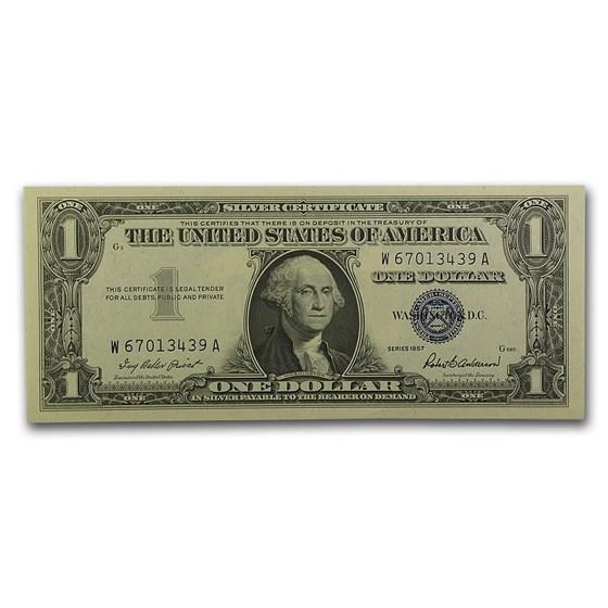 1957 $1.00 Silver Certificate CCU (Fr#1619)