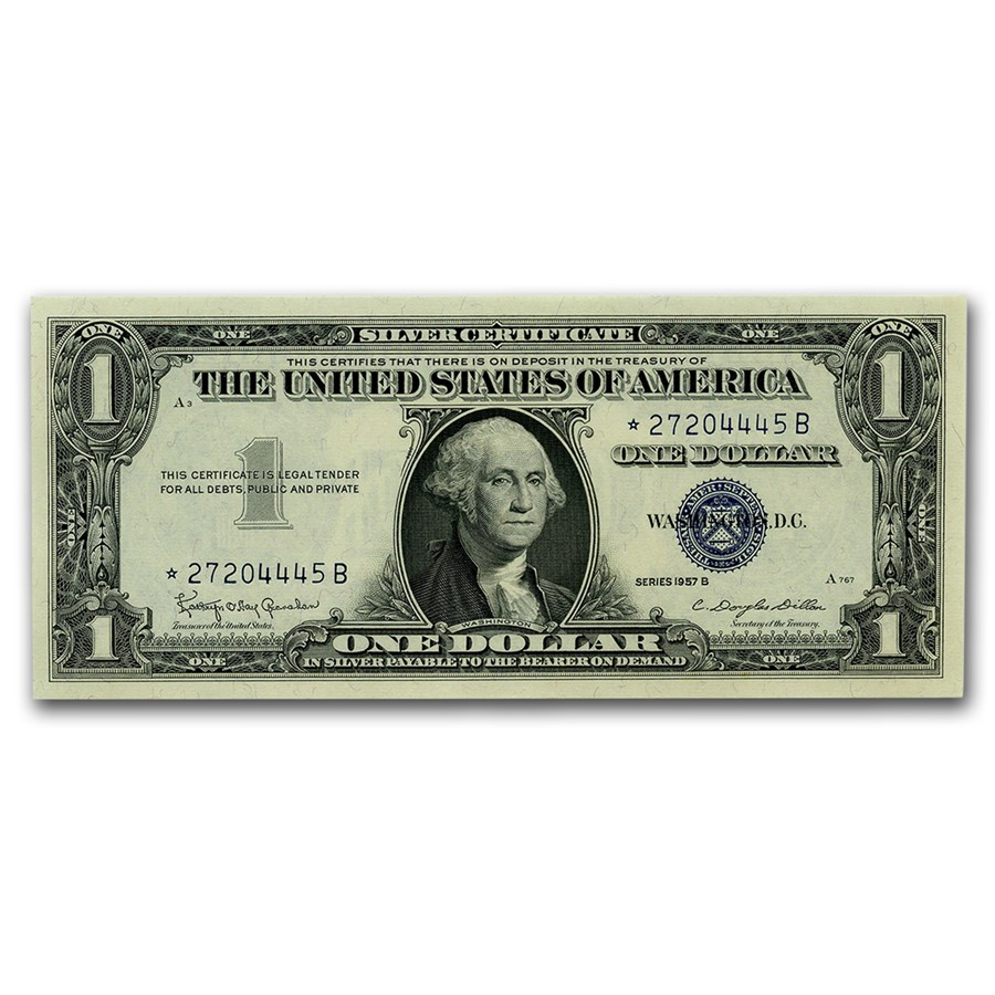 1957* $1.00 Silver Certificate CU (Fr#1619*) Star Note
