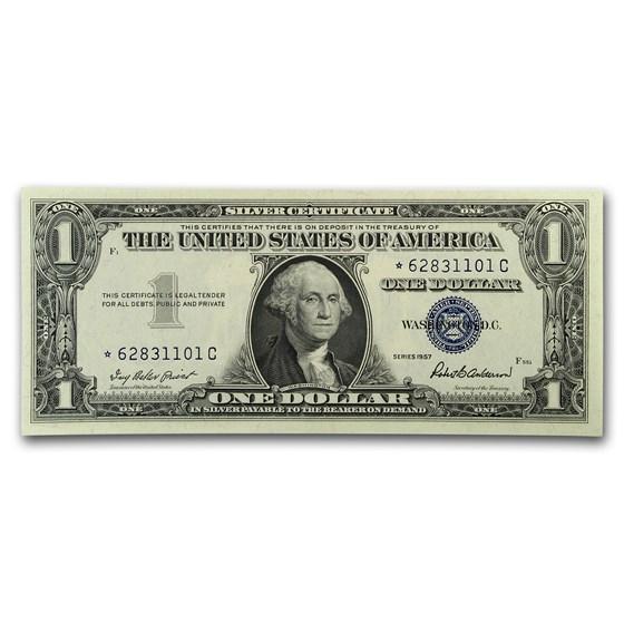 1957* $1.00 Silver Certificate CU (Star Note)