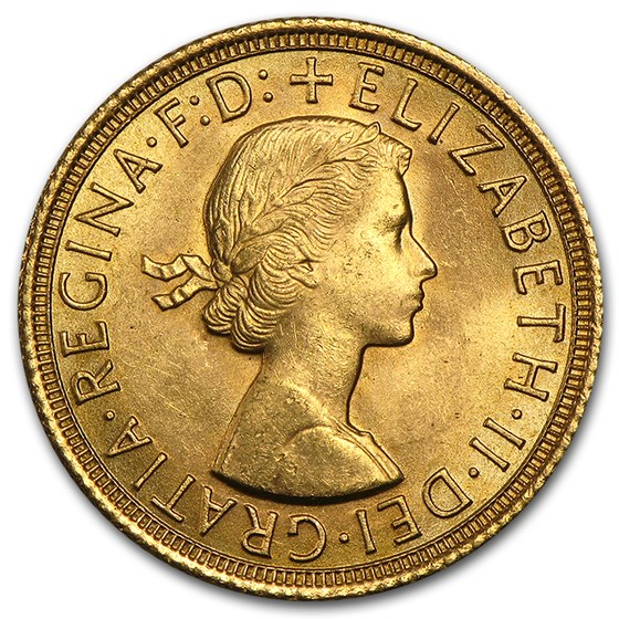 1957-1968 Great Britain Gold Sovereign Elizabeth II BU