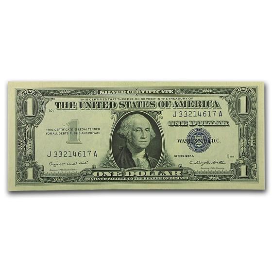 1957-A $1.00 Silver Certificate AU (Fr#1620)