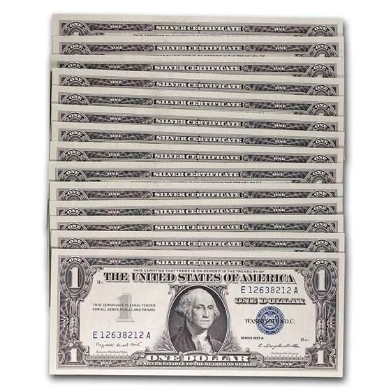 1957-A $1.00 Silver Certificate CCU (Fr#1620) 14 Consecutive