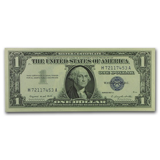 1957-A $1.00 Silver Certificate CU (Fr#1620)
