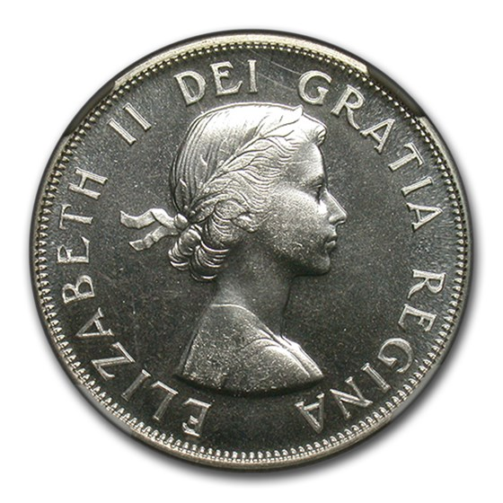 1957 Canada Silver 50 Cents Elizabeth II MS-67 NGC (Proof-Like)
