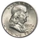 1957-D Franklin Half Dollar Fine/AU