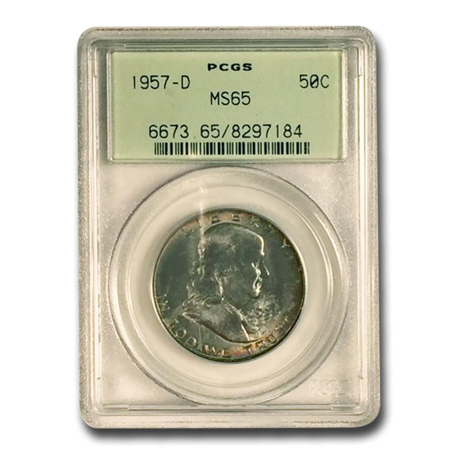 1957-D Franklin Half Dollar MS-65 PCGS