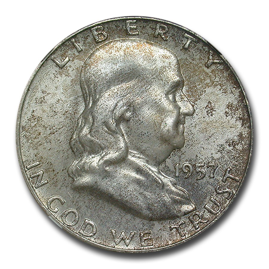 1957-D Franklin Half Dollar MS-66 NGC (FBL)