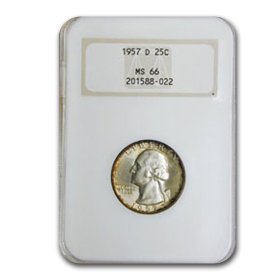 1957-D Washington Quarter MS-66 NGC