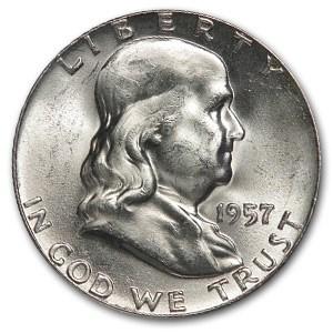 1957 Franklin Half Dollar BU